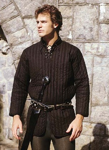 Early Gambeson in black, sizes to XL