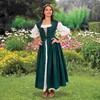 Country Maid overdress in green.
