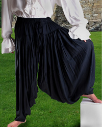Patiala Pants - viscose fabric with elastic waist - more fabric than any other pants or shirt we sell  - baggy for that authentic pirate look and feel.