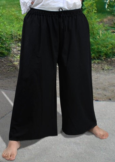 Drawstring pirate pants in black, three other colors available.