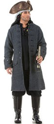 Capt. Jack Sparrow pirate coat in dark grey with wood buttons