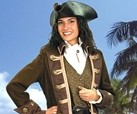 Leather Cap'n Jack pirate hat with Mary Read ensemble