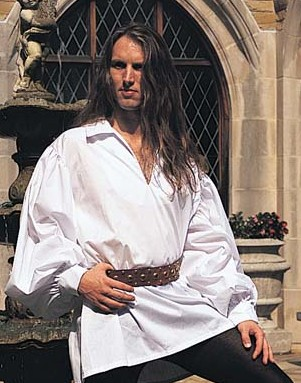 Early Renaissance Shirt in white