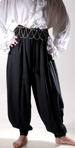 Pirate or Harem Pants in black