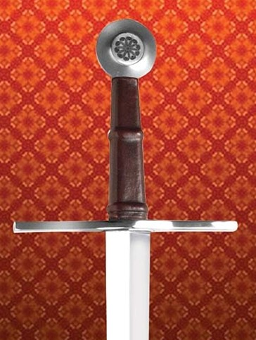 Oakeshott sword, comes with leather scabbard and sword belt.