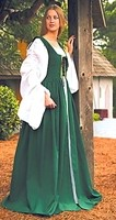 Fair Maiden dress in green, also available in red and blue.