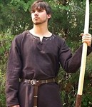 Brown undertunic--great medieval piece for feast or everyday, goes with green undertunic or other Legends of Sherwood  items.