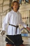 Boys swordsman shirt - a great period shirt to wear with our boys Musketeer tabard, or on its own with a pair of cotton pants and a period belt.