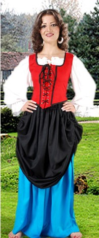 Double Skirt in turquise and black.  3 other color choices available.