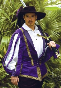 Italian doublet in purple.