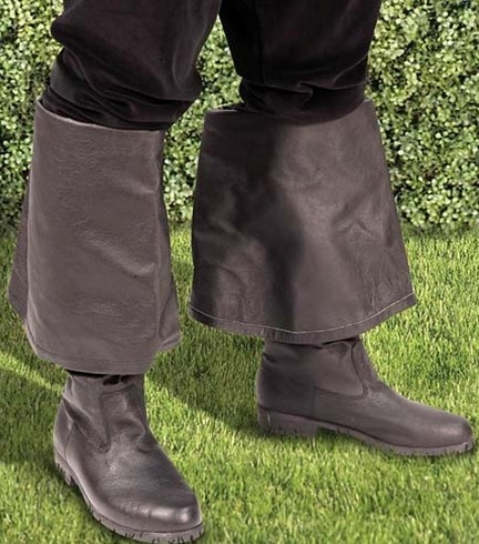 Cavalier boots with cuff down for a knee-high boot - can also be worn cuff up for a thigh-high boot.
