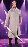 Lightweight polycotton faux chainmail tunic and coif