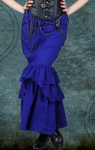Slim Mermaid skirt in royal blue poplin