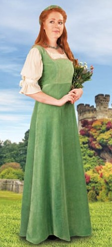 Mulberry Faire Overdress in soft green