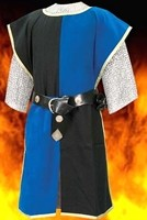 Knightly Tabard in Blue and Black, three other color combinations available.