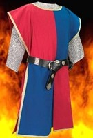 Knightly Tabard in red and blue.