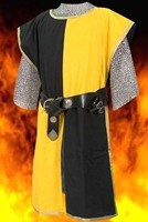 Knightly Tabard in Yellow and Black, three other color combinations avialable.