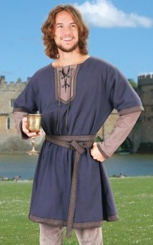 Norman tunic in blue and grey