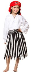 Girls' striped pirate skirt