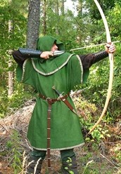 Authentic medieval longbow made of European Hardwood