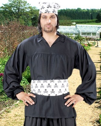 Early Renaissance shirt in black