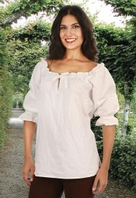 Faire Blouse in white, also in black.