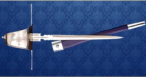Main gauche Musketeer dagger and scabbard