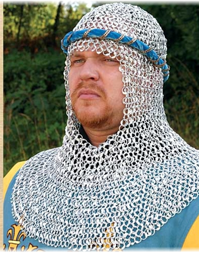 Chain mail armor coif