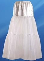 White underskirt adds fullness under gowns
