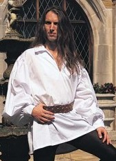 Early Renaissance Shirt in white only, sizes to XXL.