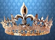 Baron's Crown - smaller, yet elaborate crown of with over 250 Swarovski crystals throughout.