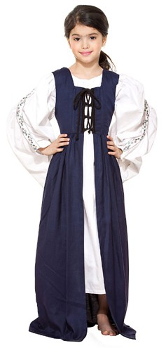 Medieval Market dress in navy.