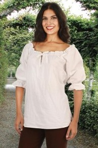 Faire blouse in white
