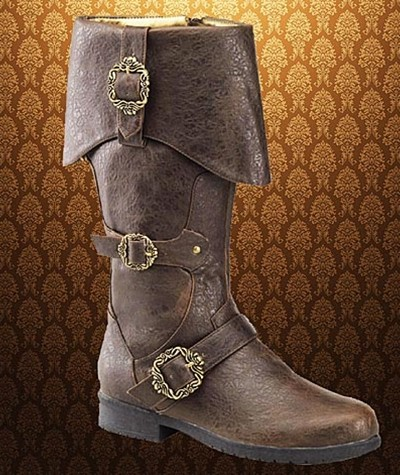 Caribbean Rogue pirate boots in brown