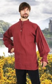 Festival men's shirt in wine