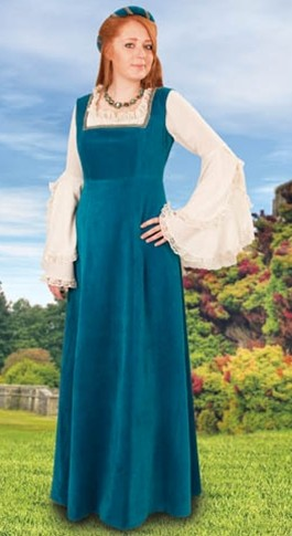 Mulberry Faire overdress in teal.