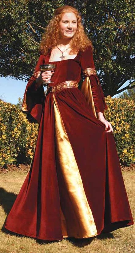 Berengaria Gown in Red Velvet