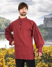 Festival shirt in wine. Also in natural and black.