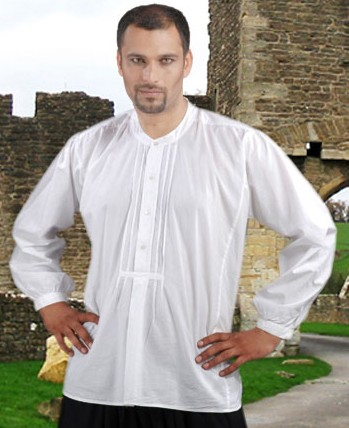 Medieval Warrior shirt in white, also available in black