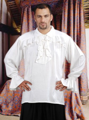 Francis Drake Shirt in white, also available in black