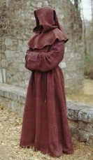Friar Tuck Monk Robe in brown, available in 3 other colors