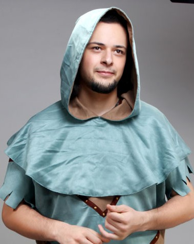 Reversible Ultra-Suede Medieval Hood is a great Medieval costume piece for men or women.