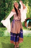 Gypsy Queen Ensemble with Peasant Blouse