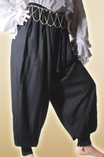 Harem-Pirate Pants in black, available in five other colors.