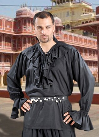 Medeival Nobleman Shirt in black