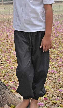 Boys' Capt Booth black pirate pants