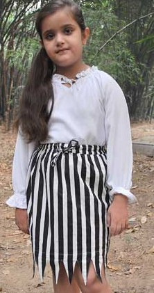 Girls striped pirate skirt
