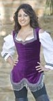 Jeweled bodice in purple.