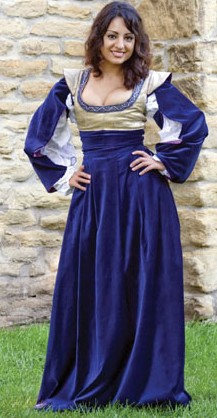 Austrian Klied gown in navy, 5 other colors available.