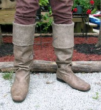 Robin Hood boots in brown, also available in black.